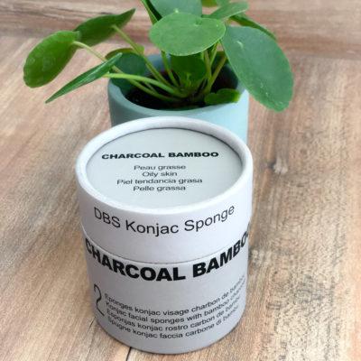 Boîte Duo Éponges Konjac DBS visage au charbon de Bambou