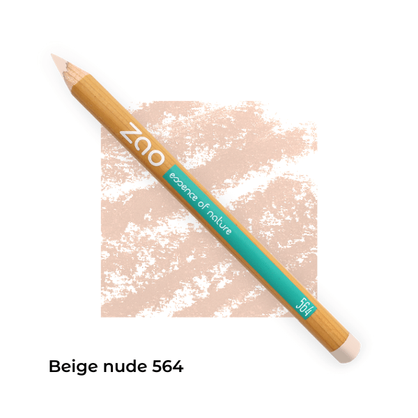 Crayons bio lèvres multi-usages Beige nude 564 -- Zao Makeup