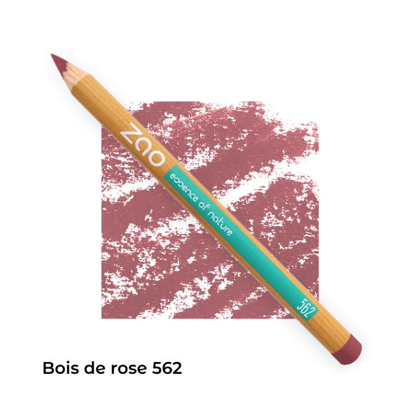 Crayons bio lèvres multi-usages Bois de rose 562 -- Zao Makeup