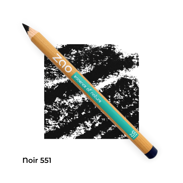 Crayons yeux bio multi-usages Noir 551 -- Zao Makeup