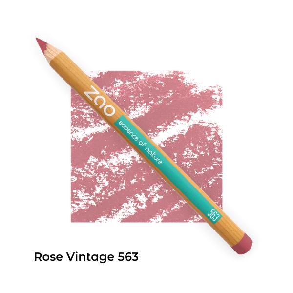 Crayons bio lèvres multi-usages Rose Vintage 563-- Zao Makeup