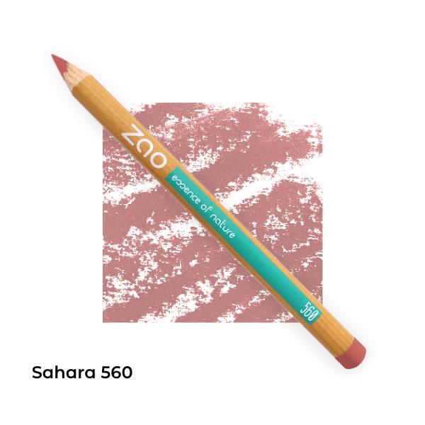 Crayons bio lèvres multi-usages Sahara 560 -- Zao Makeup