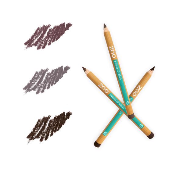 Crayons bio sourcils multi-usages -- Zao Makeup