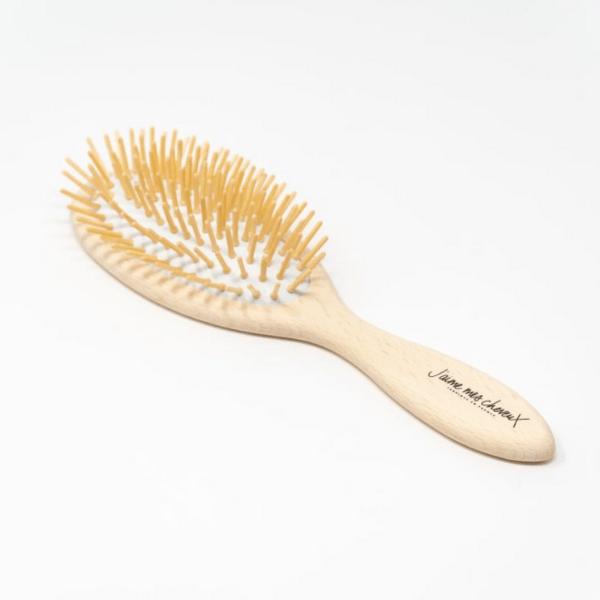Brosse à cheveux démêlante en bois de Hêtre- J'aime mes cheveux