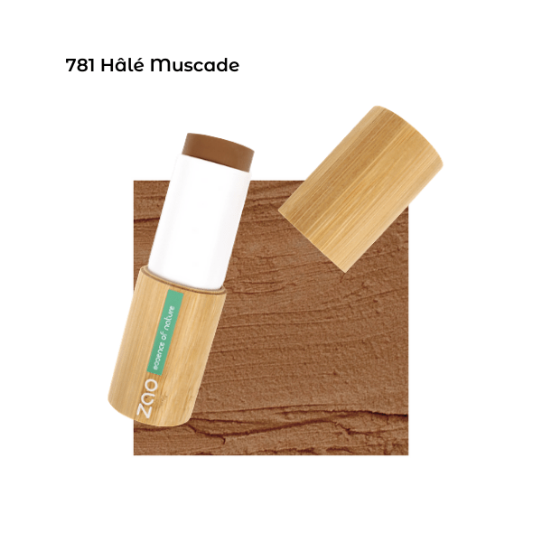 Fond de teint stick Hâlé Muscade 101781 visu - Zao Makeup