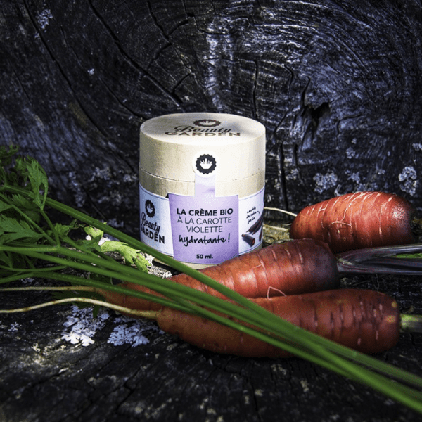 Crème Bio Hydratante a la Carotte Violette visu • Beauty Garden