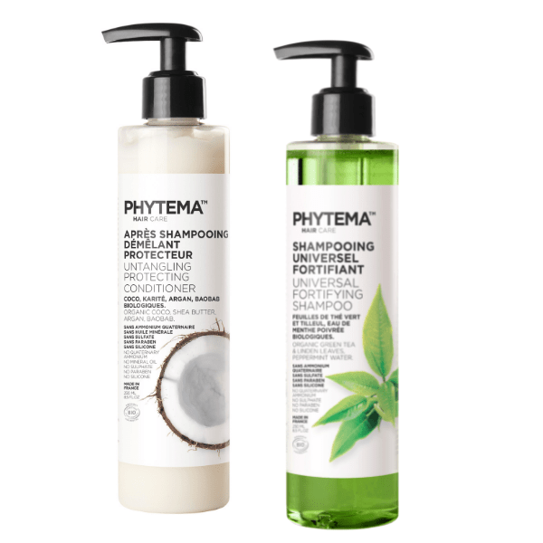 Duo Perfect Hair • Phytema Shampoing et Après-Shampoing liquides naturels