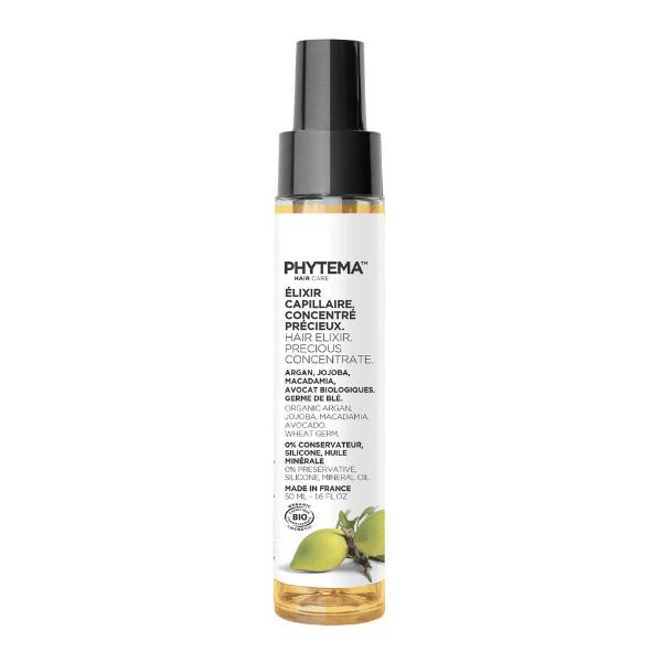Elixir Capillaire Concentré Précieux • Phytema - soin naturel et bio avant shampoing
